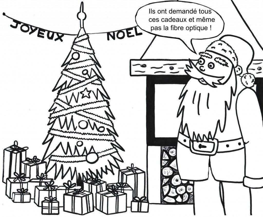 Père Noël - Ils n'ont même pas demandé la fibre optique !